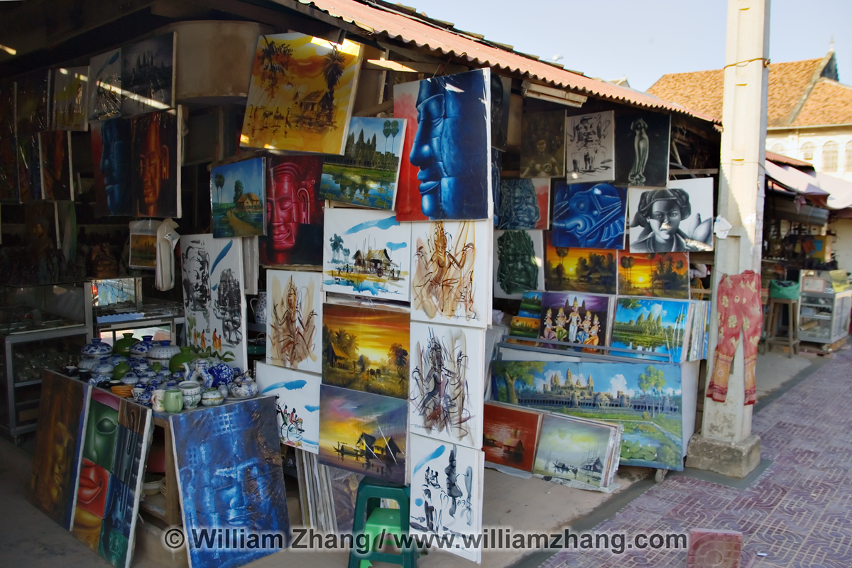 Art for sale at market siem reap for Painting for sale by artist