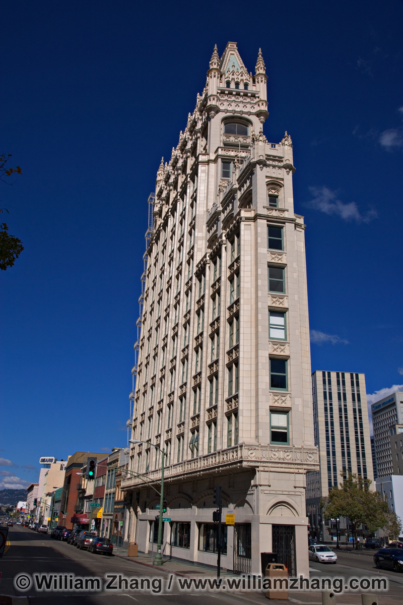 Gothic Revival Style Cathedral Building In Downtown Oakland CA