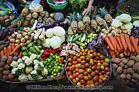 Variety of fresh vegetables at market. Siem Reap