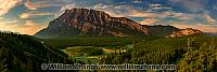Panorama of Mount Rundle from Tunnel Mountain Road. Banff, Alber