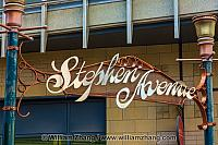 Sign for Stephen Avenue in Calgary