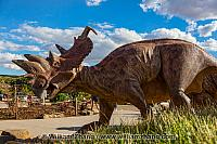 Dinosaur outside at Royal Tyrrell Museum
