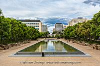 Reflecting pool outside Alberta Legislature Building. Edmonton