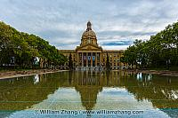 Reflection of Alberta Legislature Building. Edmonton, Canada