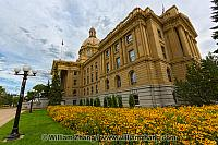Flowers around Alberta Legislature Building in Edmonton