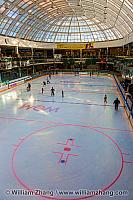 Regulation ice hockey rink at West Edmonton Mall. Alberta