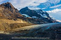 Rocky Mountains and glaciers at Columbia Icefield in Alberta