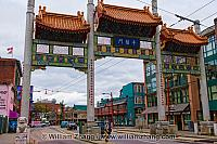 Millennium Gate also called China Gate in Vancouver. BC, Canada