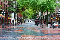 Gastown, the original townsite of Vancouver. BC, Canada