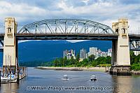 Burrard Bridge over False Creek in Vancouver. BC, Canada
