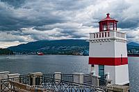 Brockton Point Lighthouse in Vancouver. BC, Canada