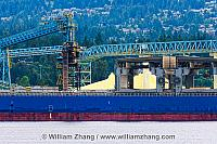 Sulphur processing in North Vancouver. BC, Canada