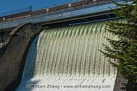 Cleveland Dam Spillway in North Vancouver. BC, Canada