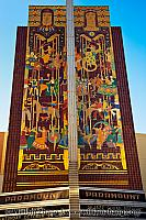 Mosaic on facade of Paramount Theatre. Oakland, CA