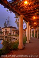 Columns hold pergola at edge of Lake Merritt. Oakland, CA