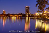 Necklace of Lights reflects on Lake Merritt. Oakland, CA