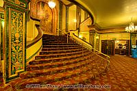 Neoclassical interior lobby at Grand Lake theater. Oakland, CA