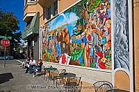 The Ohlone Mural off Piedmont Avenue. Oakland, CA