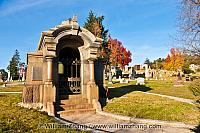 Family masoleum at Mountain View Cemetery. Oakland, CA