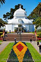 Entrance and dome of Conservatory of Flowers. San Francisco