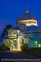 Entrance and dome of Conservatory of Flowers. San Francisco, CA