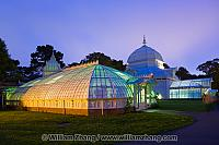 Conservatory of Flowers entrance at twilight. San Francisco, CA