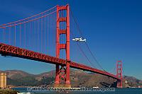 Golden Gate Bridge and space shuttle Endeavor. San Francisco, CA