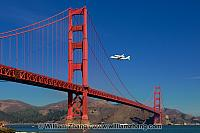 Endeavor over Golden Gate Bridge. San Francisco, CA